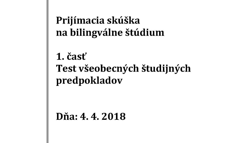 Testy na talentové skúšky – Exam c5d19d694c2